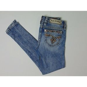 Rock Revival 27 Sherry Skinny Blue Jeans Casual